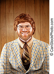 Portrait of a Nerdy Game Show host Retro Clothing - A...