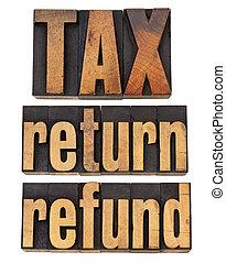 tax, return and refund