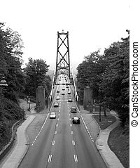 Lions Gate Bridge - The Lions Gate Bridge in Vancouver,...
