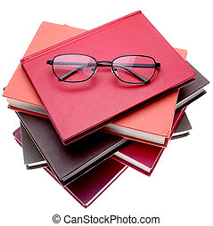 Books - Reading glasses on books