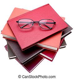 Books - Reading glasses on books