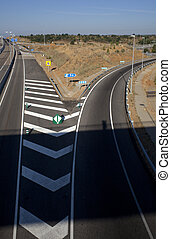 Autobahn - View of the New Autobahn in Spain
