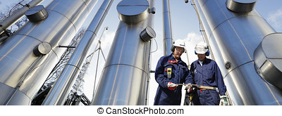 oil nad gas pipelines and workers - workers, gas and oil...