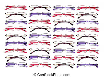 eye glasses - colorful eye glasses pattern for background.