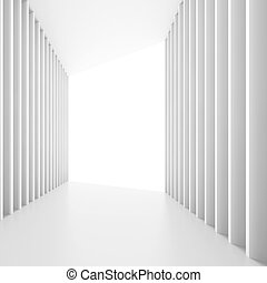 Abstract Architectural Design - 3d Illustration of White...