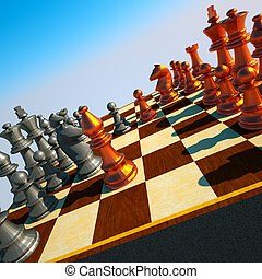 Chess battle