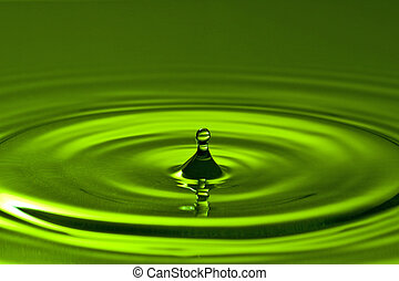 green clean water splash