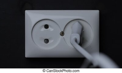 Electrical outlet fire - Fire in European style dual power...