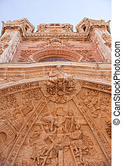 Portal of the Astorga cathedral - Decorated portal of the...