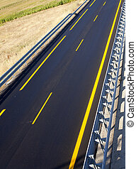 New autobahn - Road of a new autobahn