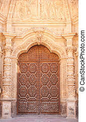 Cathedral of Astorga, Spain - Portal of the Cathedral of...