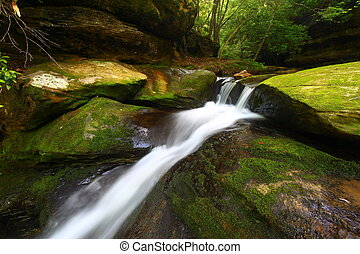 Caney Creek Falls - Alabama - Beautiful scenery of Lower...