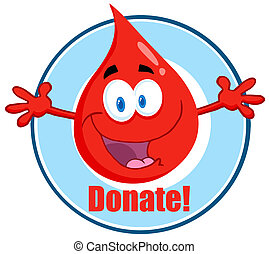 Blood Guy Asking You To Donate Cartoon Character