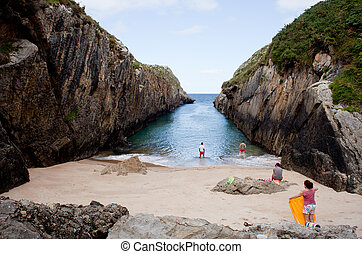 Beach of Nueva de Llanes, Asturias, Spain