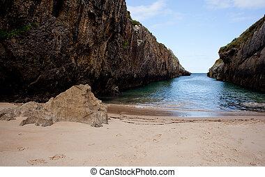 Beach of Nueva de Llanes, Asturias, Spain