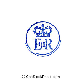 Logo of Queen Elizabeth II - close up of the personal logo...