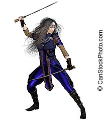 Fantasy Warrior Princess Fighting - Fantasy Warrior Princess...