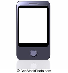 Blank smart phone isolated on white