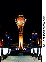 Night Baiterek Kazakhstan, Astana