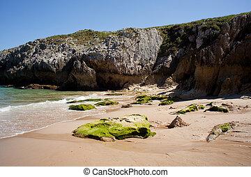 Nueva de Llanes beach - Beach, Nueva de Llanes Asturias -...