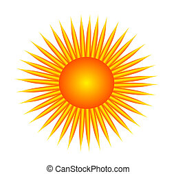 bright sun - illustration of the bright sun