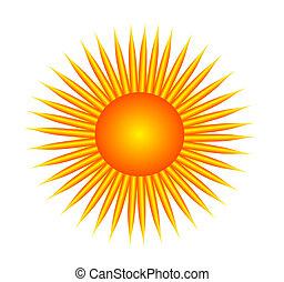 bright sun - illustration of the bright sun
