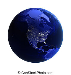 North America on white. Maps from NASA imagery