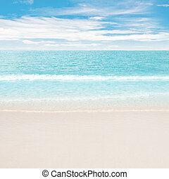 Clear ocean and beach