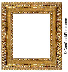 frame picture - Picture gold frame with a decorative pattern