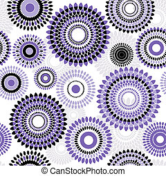 Seamless white pattern with balls