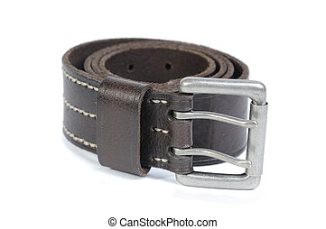 The Belt - Man's leather belt isolated on a white background