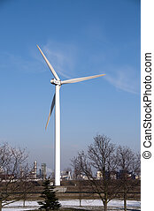 windmill - alternative energie by windmill with blue sky