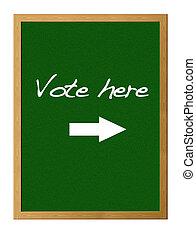 voto, aquí