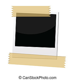 polaroid picture frame - an illustrations of polaroid...