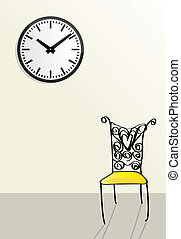 time passing, waiting concepts, doodle style illustrations