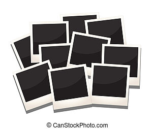 photos frames - a stack of photos frames, replace with...