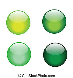 green glass marble icons