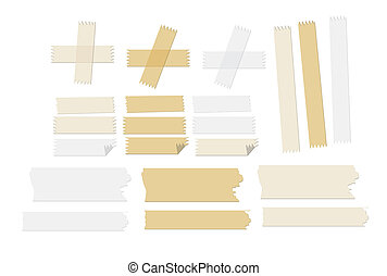 masking tape vector illustrations - some adhesive tapes that...