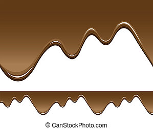 seamless melted chocolate backgrounds - illustrations of...