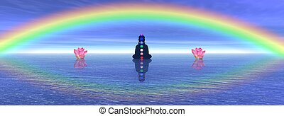 Chakras in meditation - Shadow in meditation with chakras...