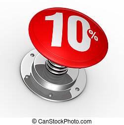 percent icon - one button with number 10 and percent symbol...