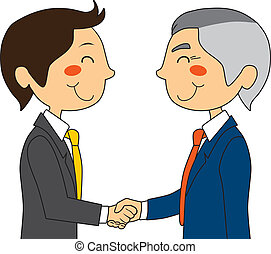 Businessmen Shaking Hands - Young businessman meeting with...