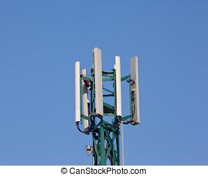 Antennae - Photo of an antennae isolated against a blue sky