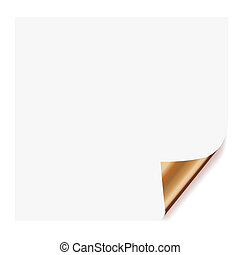 white page curl - realistic paper page with corner curl...