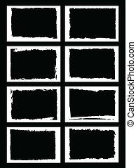 grunge borders, frames, for image or photo vector format