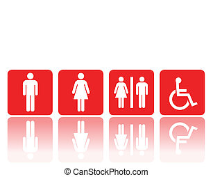 toilet or restroom signs