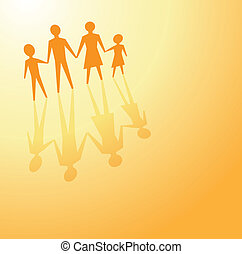 family future planning - to illustrate a family concept,...