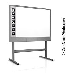 interactive whiteboard - one interactive whiteboard with an...