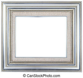Picture frame - Silver picture frame with a decorative...