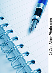 Pen and notebook, business concept